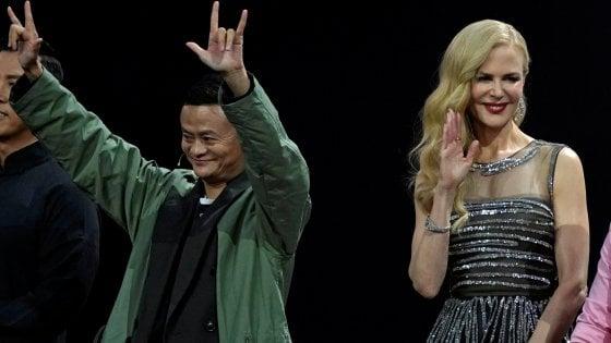 Anche Nicole Kidman, con Jack Ma, a presenziare allo show di lancio del Single Day di Alibaba