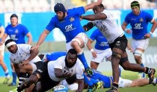 Rugby, l'Italia rialza la testa: Isole Fiji battute 19-10
