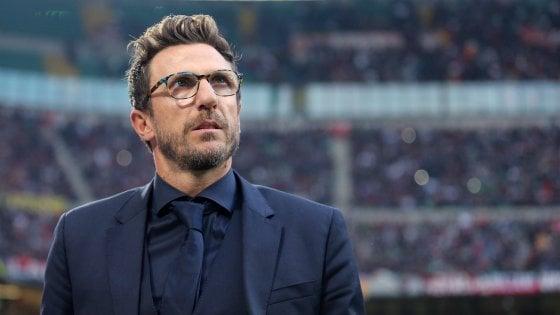 """Roma, Di Francesco: """"Scudetto? Non ci poniamo limiti. Il derby fa tremare le gambe"""""""