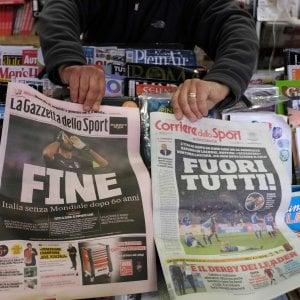 "Russia 2018, stampa estera saluta Italia: ""Arrivederci"""