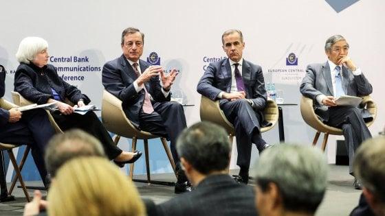 Draghi tra i fantastici quattro della politica monetaria: La forward guidance è stato un successo