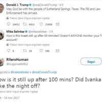 I commenti alla gaffe su Twitter di Trump