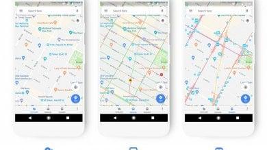Google Maps si rifà il look:  nuove icone, colori e informazioni