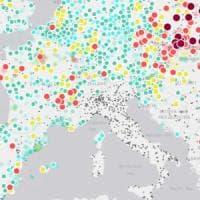 La mappa dell'inquinamento europeo va in Rete, ma l'Italia non c'è