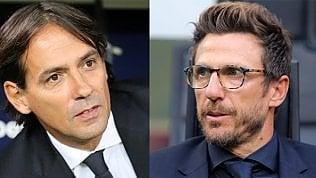 """Roma-Lazio, derby alla pariDi Francesco: """"Una festa""""· Inzaghi: """"Sarà spettacolo"""""""