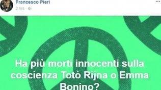 """Post shock del prete: """"Ha fatto più morti Riina o Emma Bonino?"""""""