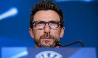 """Roma, Di Francesco: """"Atletico? Vogliamo il primo posto nel girone"""""""