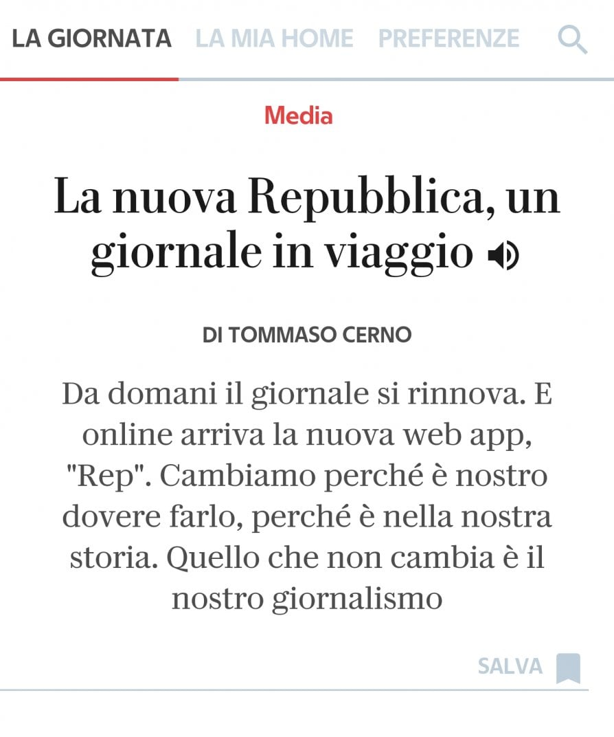 Arriva Rep: La web app con il meglio del mondo di Repubblica