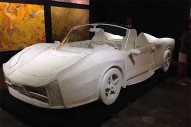 """In mostra al Mauto la """"Chiangrai Ferrari"""" in vimini del thailandese Anan Pairot"""