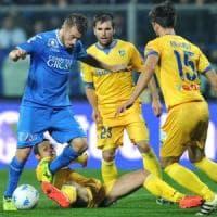 Serie B, Empoli-Frosinone 3-3: Ciano non basta, Caputo nel recupero completa la rimonta
