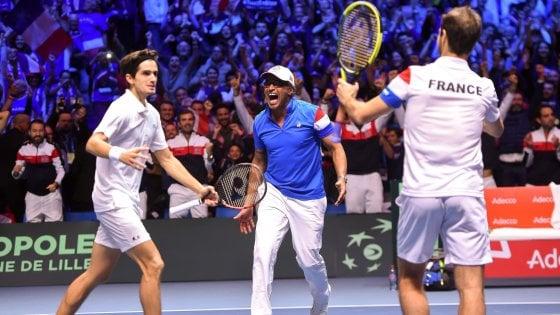 Tennis, finale Coppa Davis: il doppio è della Francia, ora a un passo dal trionfo