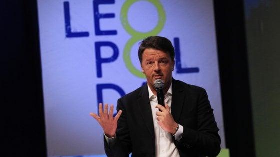 """Leopolda, Renzi: """"80 euro a famiglie con figli"""". """"Sul Web M5s e Lega usano stessi codici, li abbiamo sgamati"""""""