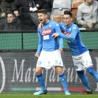 Udinese-Napoli 0-1, Jorginho riporta gli azzurri al comando