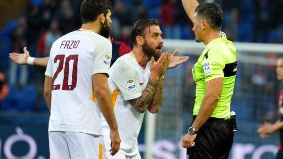 Follia De Rossi: Lapadula replica a El Shharawy, Genoa-Roma 1-1