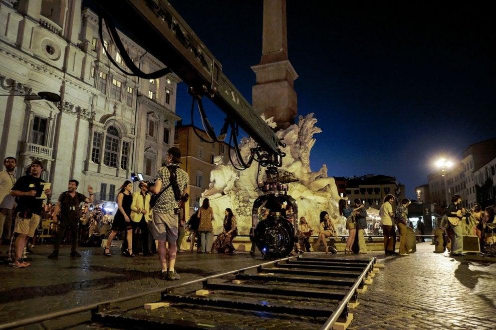 Ridley Scott sul set a Roma per 'Tutti i soldi del mondo'