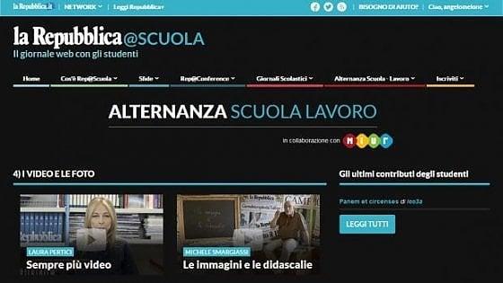 L'alternanza scuola-lavoro con Repubblica si fa anche online