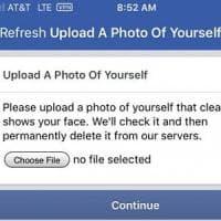 Facebook potrebbe chiederti un selfie per verificare chi sei