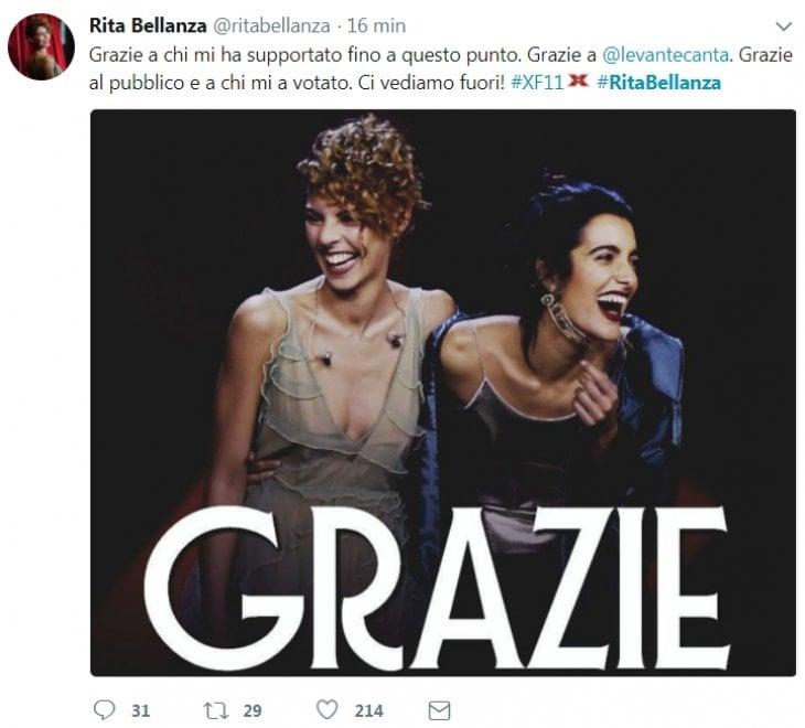 Rita Bellanza eliminata a X Factor 11: ora Levante non ha più una squadra