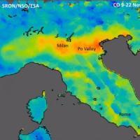 Dalla Pianura Padana alla Ruhr: il Pianeta inquinato visto dallo spazio
