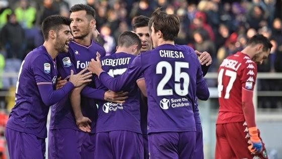 Fiorentina-Sassuolo 3-0: Simeone, Veretout e Chiesa fanno sorridere Pioli