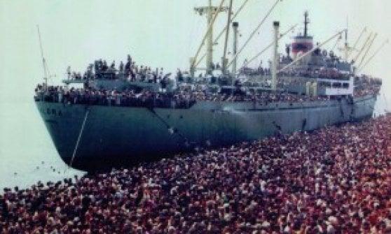 Arrivò in Italia da profugo albanese. L'artista Milot dona un'opera al paese che lo accolse