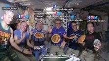 Una pizza nello spazio: sorpresa per Nespoli&Co