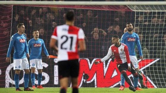 Feyenoord-Napoli 2-1: non basta Zielinski, gli azzurri salutano la Champions