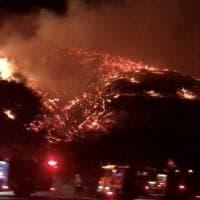 California, l'incendio raggiunge Hollywood: le immagini delle colline in fiamme