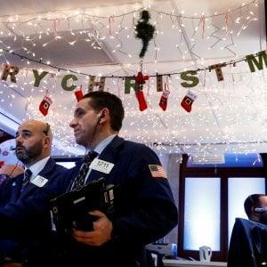 Clima natalizio alla Borsa di New York