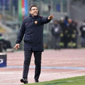 """Roma, Di Francesco: """"Ora non ci accontentiamo"""". Perotti rinnova fino al 2021"""