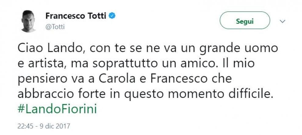 Addio a Lando Fiorini, il cordoglio sui social da Totti a Raggi