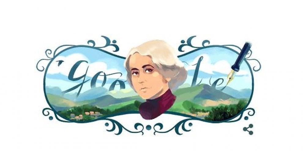 Un doodle per celebrare Grazia Deledda: 91 anni fa la scrittrice vinse il Nobel per la letteratura