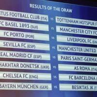Champions, sorteggio ottavi: Juventus -Tottenham e Roma-Shakhtar