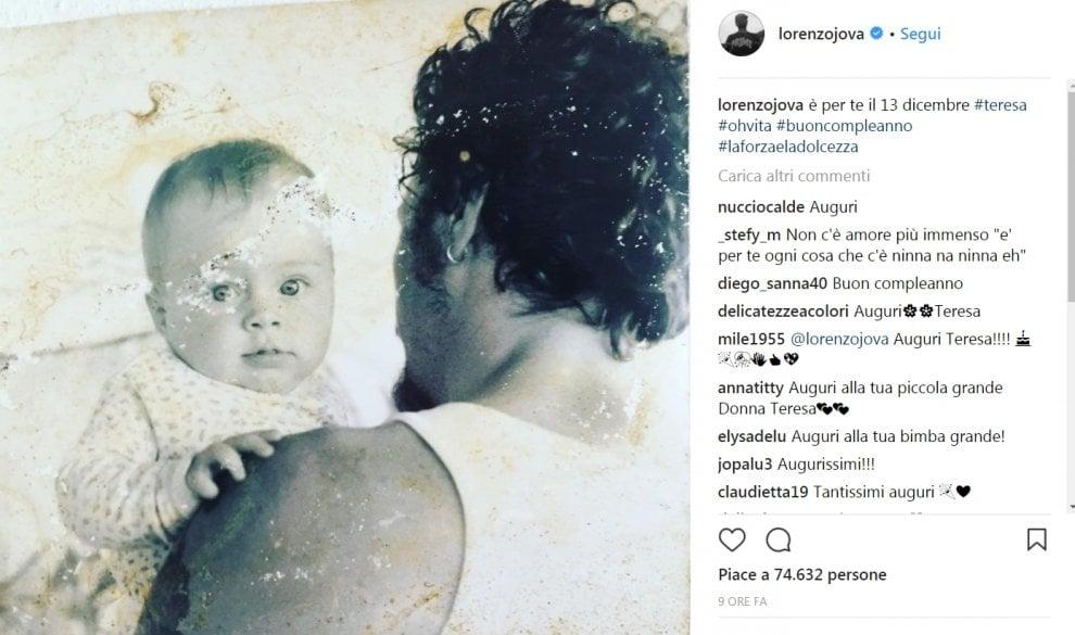 """""""E' per te il 13 dicembre"""": la dedica di Jovanotti alla figlia Teresa che compie 19 anni"""