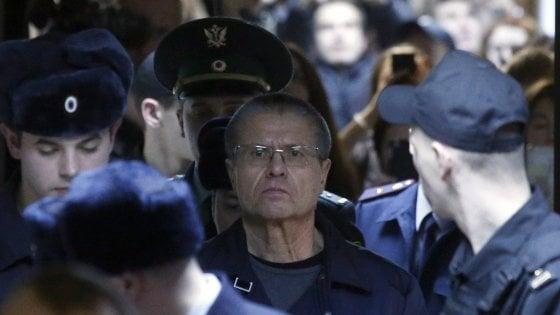 Russia, otto anni di carcere all'ex ministro dello Sviluppo economico per corruzione