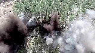Esplosioni da record nel filmdi guerra: 70,5 kg di tritolo