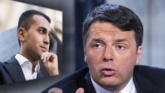 """Renzi: """"Di Maio folle, vuole tagliare pensioni da 2.300 euro"""". M5s frena: """"Ci riferiamo a quelle oltre i 5mila"""""""