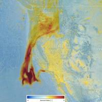Fumo sull'Oceano: ecco cosa hanno prodotto gli incendi della California