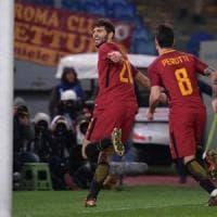 Roma-Cagliari 1-0: Fazio al 94', tre punti d'oro per i giallorossi