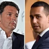 """Scontro Di Maio-Renzi sull'euro. Il 5S: """"Voterei per l'uscita"""". Il segretario: """"Una..."""