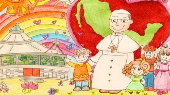 """""""Caro Papa Francesco, ti regalo un disegno"""". La campagna per curare i bambini"""