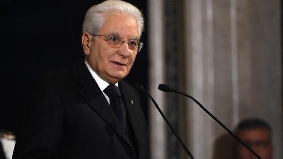 """Mattarella: """"Partiti riflettano, concorrano per Italia"""". """"Paese ha anticorpi contro razzismo"""""""