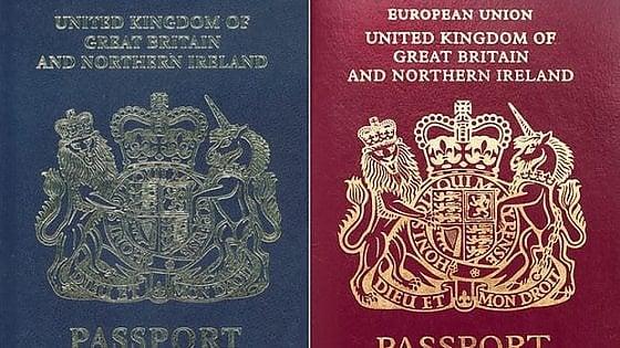 best sneakers 9e78c fe284 Brexit, un tuffo nel passato: i passaporti ritornano blu e ...