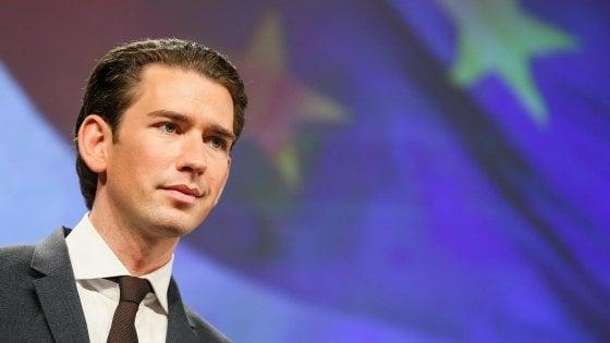 """Austria, Kurz contro la Ue su accoglienza migranti: """"Così finiamo per dividere l'Europa"""""""