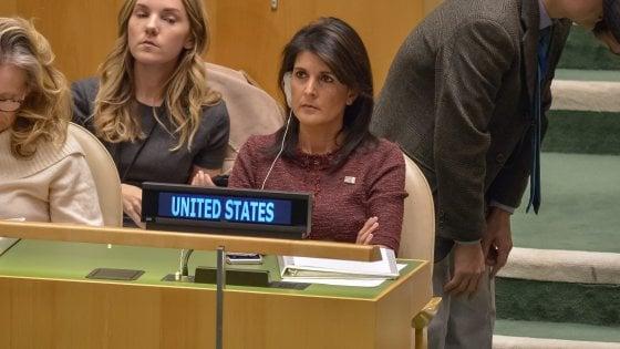 Gerusalemme, dopo la bocciatura gli Usa tagliano i fondi all'Onu