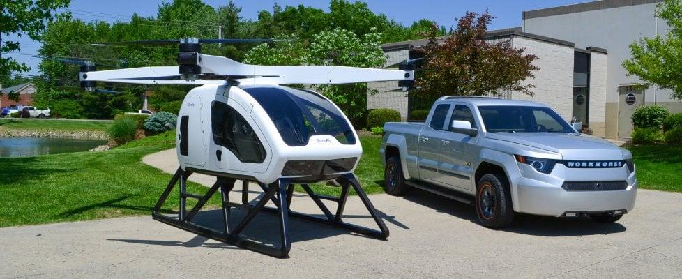 Addio auto volante, ecco il maxi drone a due posti