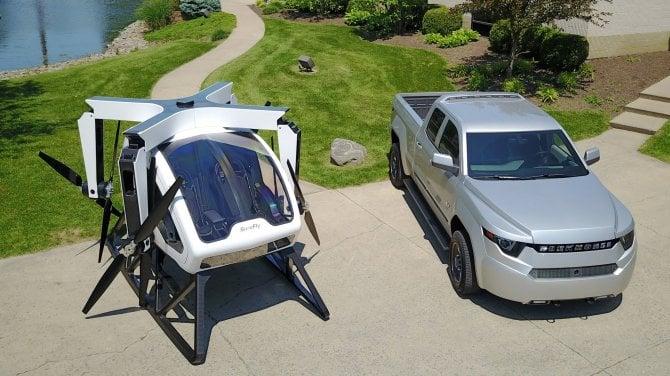 Ecco il SureFly, il drone volante che porta pilota e passeggero