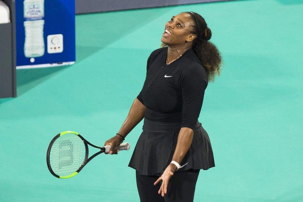 Tennis, Serena Williams in campo: è la prima da 'mamma'