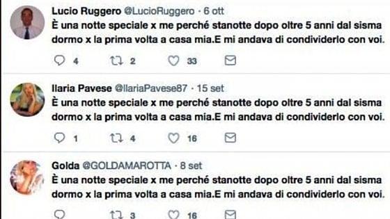 """""""A casa dopo il sisma"""". La strana storia di un tweet divenuto virale grazie ad una rete di account fasulli"""