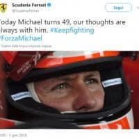 F1, Schumacher compie 49 anni. La Ferrari: ''Sempre con te''